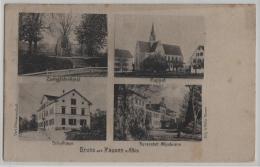 Gruss Aus Hausen A. Albis - Zwingidenkmal, Kappel, Schulhaus, Kuranstalt Albisbrunn - Photo: C. Steinmann - ZH Zurich