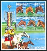 2001 Sierra Leone Ippica Horse Racing Cavalli Horses Set MNH** Spa287 - Sierra Leone (1961-...)