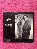 Vinyle 45 Tours Léo Ferré Vitrines 1961 - Vinylplaten