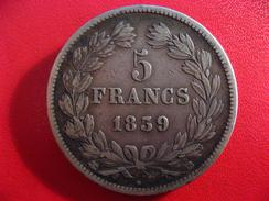 5 Francs Louis-Philippe 1839 BB Strasbourg 2350 - France