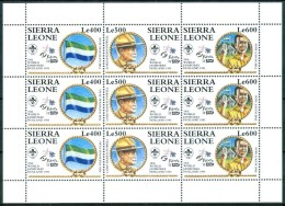 1995 Sierra Leone Scout Scoutisme Scouting Set MNH** Spa124 - Sierra Leone (1961-...)