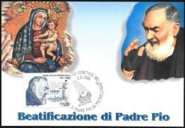 Italia/Italie/Italy: Beatificazione Di Padre Pio, Padre Pio's Beatification, Béatification De Padre Pio - Cristianesimo