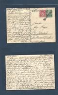 Czechoslovakia. 1938 (16 Oct) German Occupation. Switzerland. Lygnnburg - Lenerbach. German 6 Pf Green Stat Card + Czech