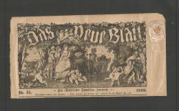 Czechoslovakia. 1899. Austria Period Ilustrated Jorunal Fkd Newspaper 1kr, Czech Cds Cancel. Wine And Gnomes Issues, Mus
