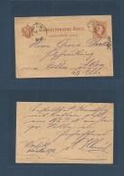 Czechoslovakia. 1878 (14 May) Orlik Castle, Bohemia - Aken An Elbe (16 May) 2kr Austria Province Stat Card, Worklik Cds.