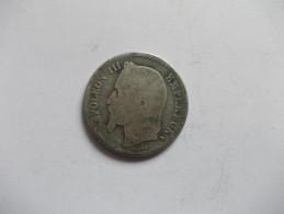 MONNAIE - 1 FRANCS Napoleon III Tête Laurée A 1867 - H. 1 Franc