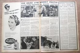 """Magazine Avec Article """"Robert Protin, Premier Belge Champion Du Monde Cycliste, Liège"""" 1952 - Collections"""