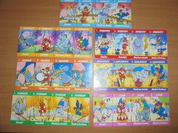 """Série De Cartes """"jeu De Sept Familles"""" ( Avec 4 Cartes Non Decoupées - éléphant Dumbo - Disney) Editées Par """" Kinder """" - Kinder & Diddl"""