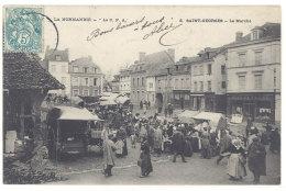 Cpa Saint-Georges - Le Marché  ((S.170)) - Saint-Georges-Motel