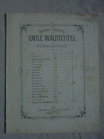 Ancienne Partition Danses Célèbres Par E. Waldteufel Pour Piano Et Violon - Per UITGEVER
