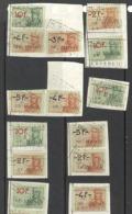 België/Belgique  Fiscale Zegels/timbre Fiscaux Stempel/cachet Lokeren M. Buydens.  Zie/voir Scan - Revenue Stamps