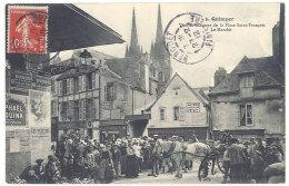 Cpa  Quimper - Vieilles Maisons De La Place Saint-François, Le Marché ((S.184)) - Quimper