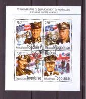TOGO 2014 DEBARQUEMENT EN NORMANDIE  YVERT N° OBLITERE - Seconda Guerra Mondiale