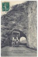 Cpa  Route De Prunières à Barcelonnette - La Diligence Sortant Du Tunnel D'Ubaye  ((S.191)) - Francia