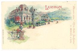 Cpa  Luchon - Casino ... Pub Chicorée Bériot, à Lille  ((S.196)) - Luchon