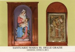 Gioiosa Jonica RC - Santino Cartolina SANTUARIO MARIA SS. DELLE GRAZIE - PERFETTO N12 - Religione & Esoterismo