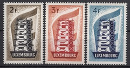 LUXEMBOURG 1956 - SERIE EUROPA N° 514 A 516 - 3 TP NEUFS* G19