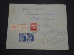 FRANCE / ALGÉRIE - Enveloppe En Recommandé De Constantine Pour Lyon , Affranchissement Plaisant - A Voir - L 4780 - Algérie (1924-1962)