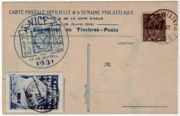 !!! EXPOSITION PHILATELIQUE DE NICE 1931 + VIGNETTE - Philatelic Exhibitions