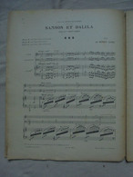 Ancienne Partition SAMSON ET DALILA Opéra De St Saëns Trio Par Ernest ALDER - Opera