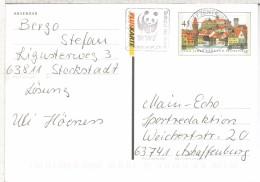 ALEMANIA ENTERO POSTAL 1000 JAHRE KRONACH BRIEFZENTRUM 60 MAT WWF OSO PANDA