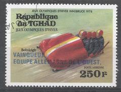 Chad 1976. Scott #C178 (U) Winter Olympic Games Winners: 4-man Bobsled, West Germany - Tchad (1960-...)