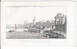 Le Vieux Louvre Et La Tour De L'hotel Du Grand Prevot - Lithographies