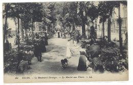 Cpa Tours - Le Boulevard Béranger - Le Marché Aux Fleurs  ((S.225)) - Tours