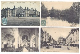 4 Cpa Tours -  Jardin, église, Gare ... ((S.227)) - Tours