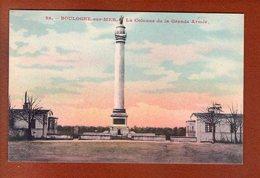 1 Cpa Boulogne Sur Mer Colonne De La Grande Armee - Boulogne Sur Mer