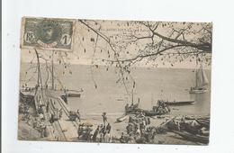 GAMBIE 64 BATHURST UN COIN DU PORT  1909 - Gambie