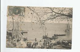 GAMBIE 64 BATHURST UN COIN DU PORT  1909 - Gambia