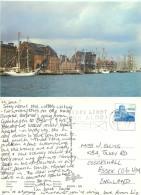 Harbour, Copenhagen, Denmark Postcard Posted 1984 Stamp - Denmark