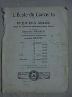 Ancienne Partition VIOTTI 13ème Concerto Premier Solo Pour Violon Par E. NADAUD - Instruments à Cordes