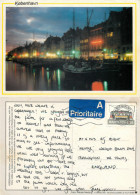 Nyhavn, Copenhagen, Denmark Postcard Posted 1994 Stamp - Denmark