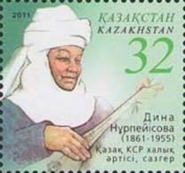 Kazakhstan 2011. 150th Birth Anniversary Of Dina Nurpeisova.  Composer. MNH** - Kasachstan