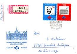 RDA. N°858-9 De 1966 Sur Enveloppe 1er Jour Ayant Circulé. Smoler/Philologie. - Idioma