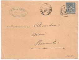 SAMOENS Haute Savoie Sur Devant D'enveloppe Au Type SAGE, Ferd. CORBET Notaire. - 1876-1898 Sage (Type II)