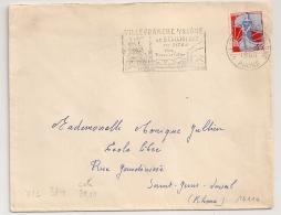 FLAMME VILLEFRANCHE S SAONE Rhone. 1960. - Oblitérations Mécaniques (flammes)