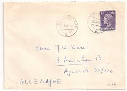 Destination ALLEMAGNE, 5F LUXEMBOURG Sur Enveloppe.