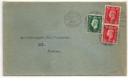 HUDDERSFIELD YORKS Pour La Suede. Destination SWEDEN . 1937 - 1902-1951 (Kings)