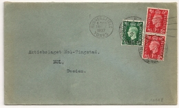 HUDDERSFIELD YORKS Pour La Suede. Destination SWEDEN . 1937 - 1902-1951 (Könige)