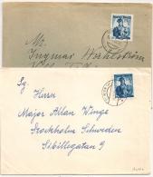 WIEN INNSBRUCK Pour La Suede. Destination SWEDEN . 1952 Et 1954.