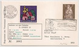 BALLON POST. BEFORDERT MIT DEM FREIBALLON. 1974. - 1971-80 Cartas