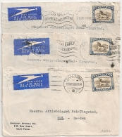 3 COVERS SOUTH AFRICA 1938. CAPETOWN TO SWEDEN. - Afrique Du Sud (1961-...)