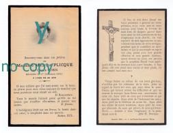Paris, Brunoy, Mémento De Mme Maurice Plicque, Née Cécile Robin, 17/10/1911, Souvenir Mortuaire, Voir Détail - Devotieprenten