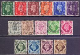 GB Scott 235/248 & 266 - SG462/475, 1937 Dark Colours Set Used - Gebruikt