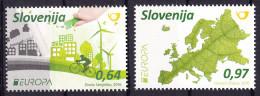 Slovenia 2016 Europa CEPT, Think GREEN, Environment, Bicycle, Set MNH - Europa-CEPT