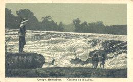 OLD CONGO LULUA WATERFALL OLD Postcard - Congo - Kinshasa (ex Zaire)