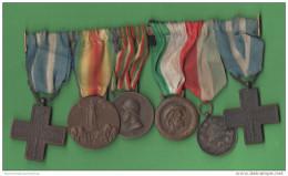 Italia Regno Medaglie Spange Mèdailles Medallas Militares Medals - Italia